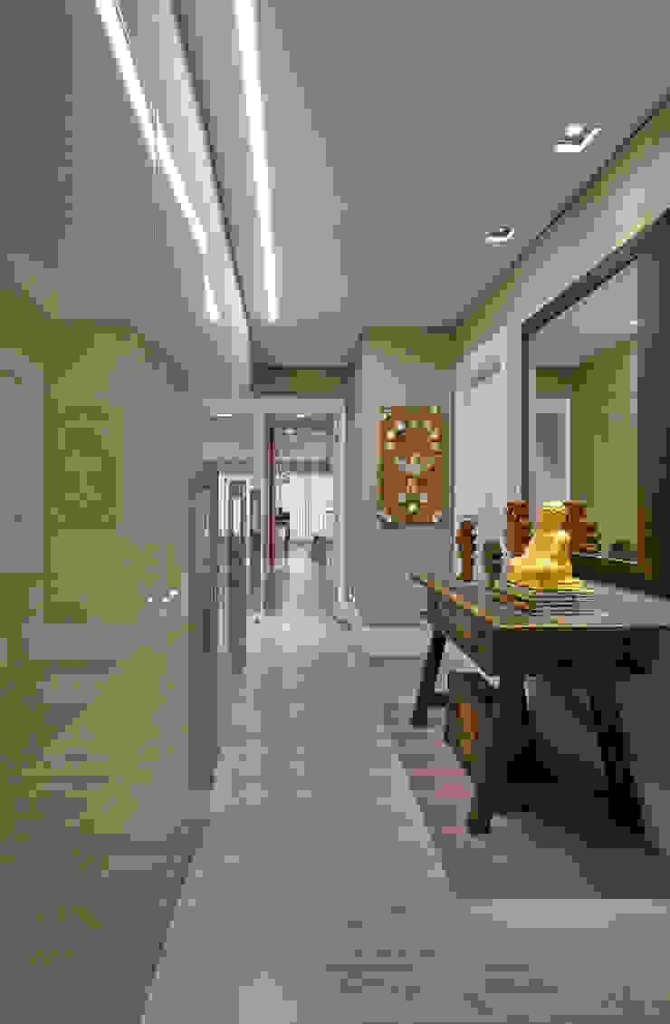 Isabela Canaan Arquitetos e Associados Couloir, entrée, escaliers modernes