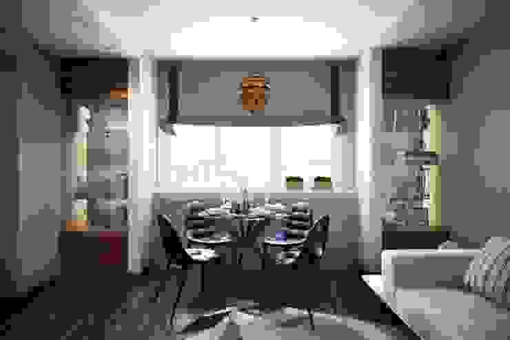 КРАСКИ ЖИЗНИ Гостиная в стиле модерн от Дизайн студия Алёны Чекалиной Модерн