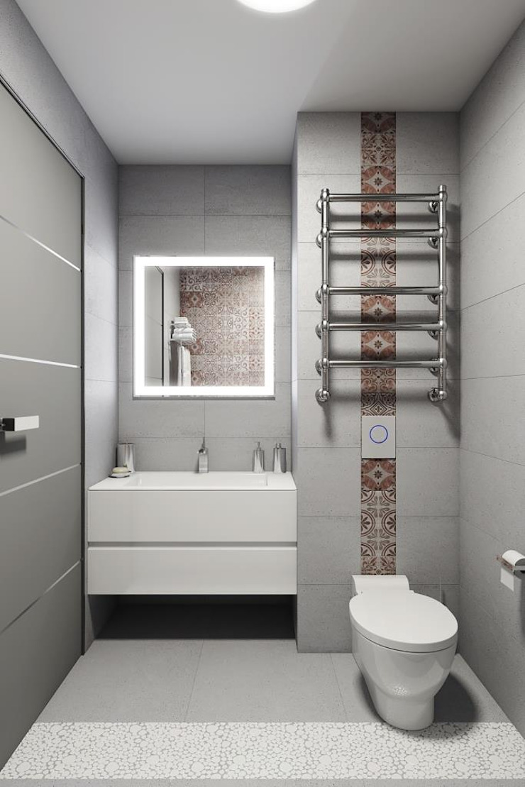 КРАСКИ ЖИЗНИ Ванная комната в стиле модерн от Дизайн студия Алёны Чекалиной Модерн