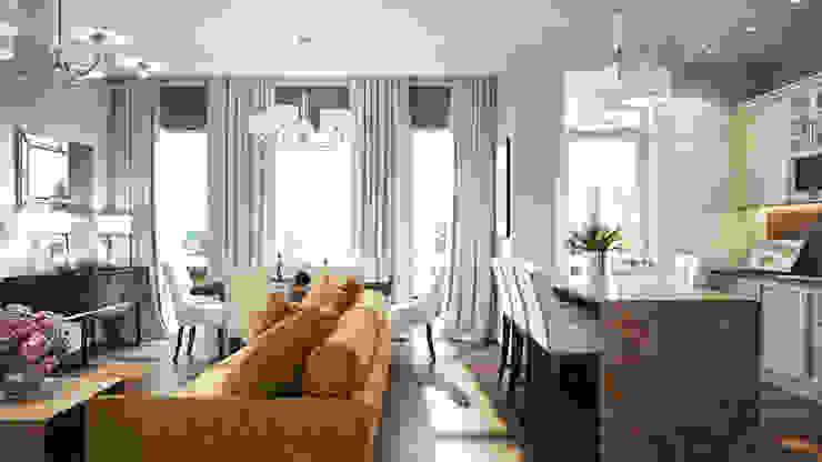 Гостинная Гостиная в классическом стиле от Бюро9 - Екатерина Ялалтынова Классический
