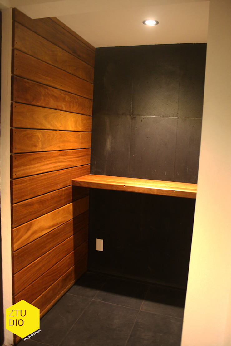 Acceso peatonal Paredes y pisos de estilo minimalista de ZTUDIO-ARQUITECTURA Minimalista Madera Acabado en madera