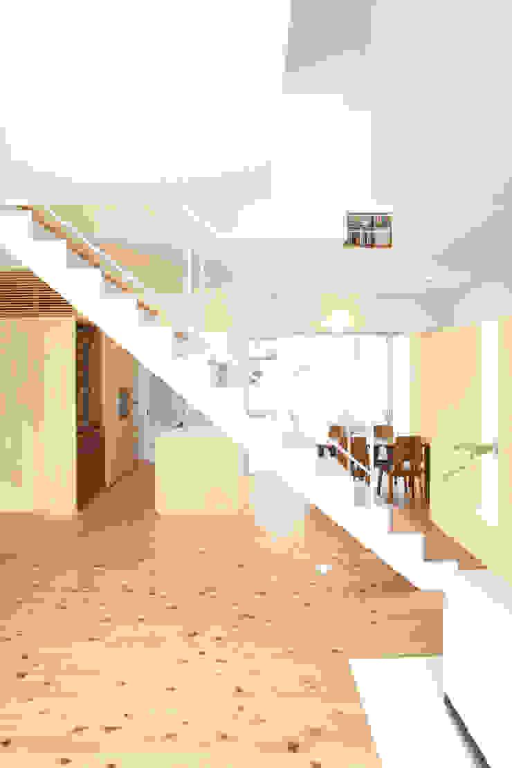 ミラボと実家 /a couples working studio & their parents home モダンデザインの ダイニング の 3--lab モダン