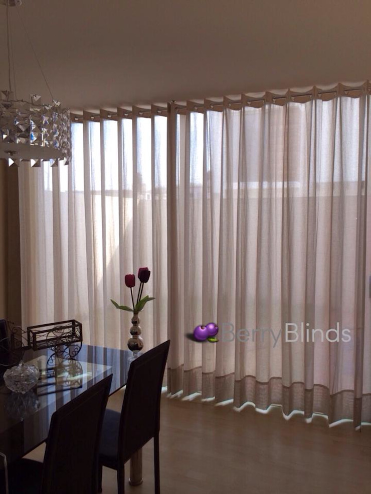 classic  by BERRY BLINDS INTERIORISMO, Classic Flax/Linen Pink