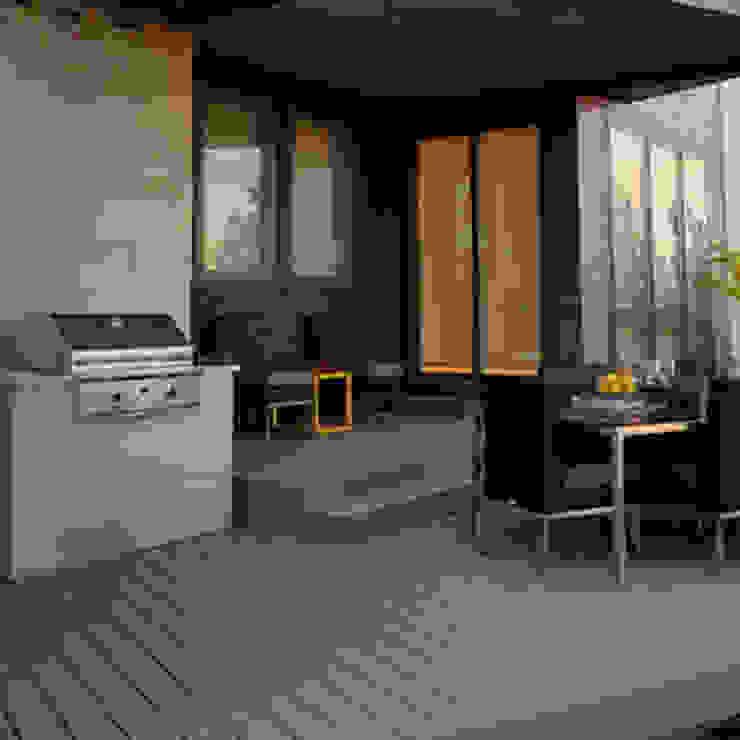 Moderner Balkon, Veranda & Terrasse von D'Tzalam - Diseño en Pisos Modern