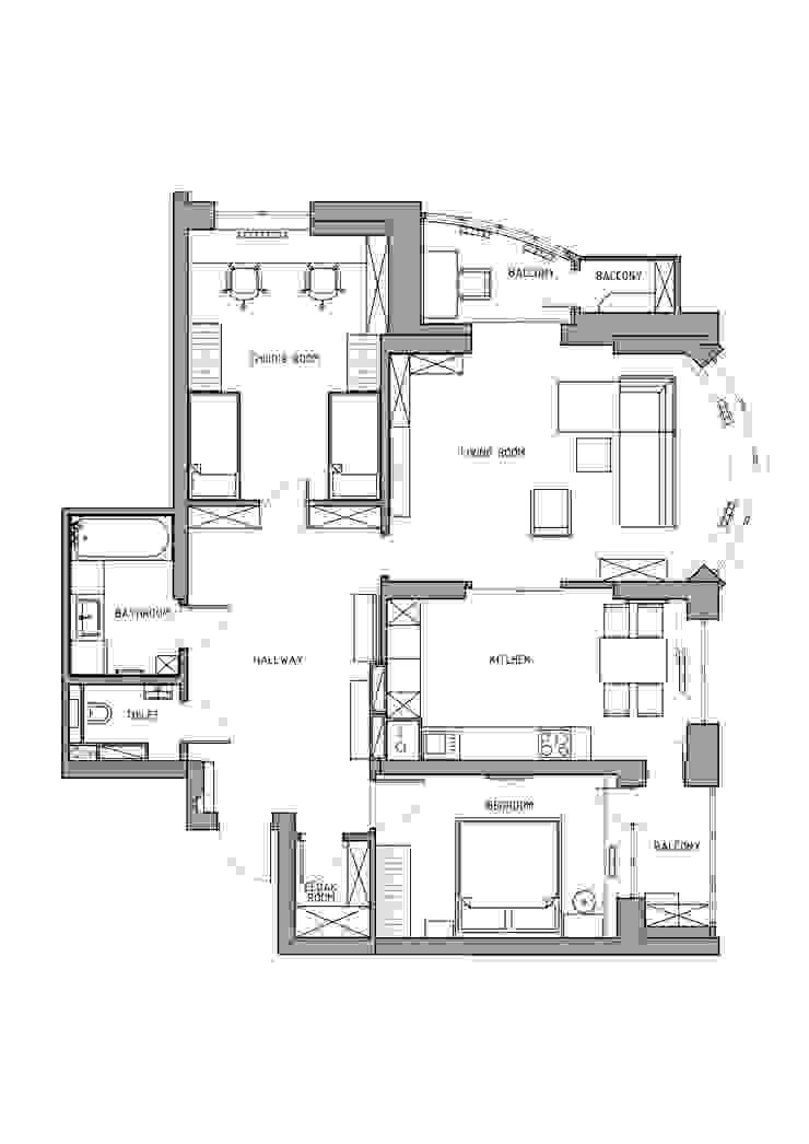 Apartment A:  в современный. Автор – Bovkun design, Модерн