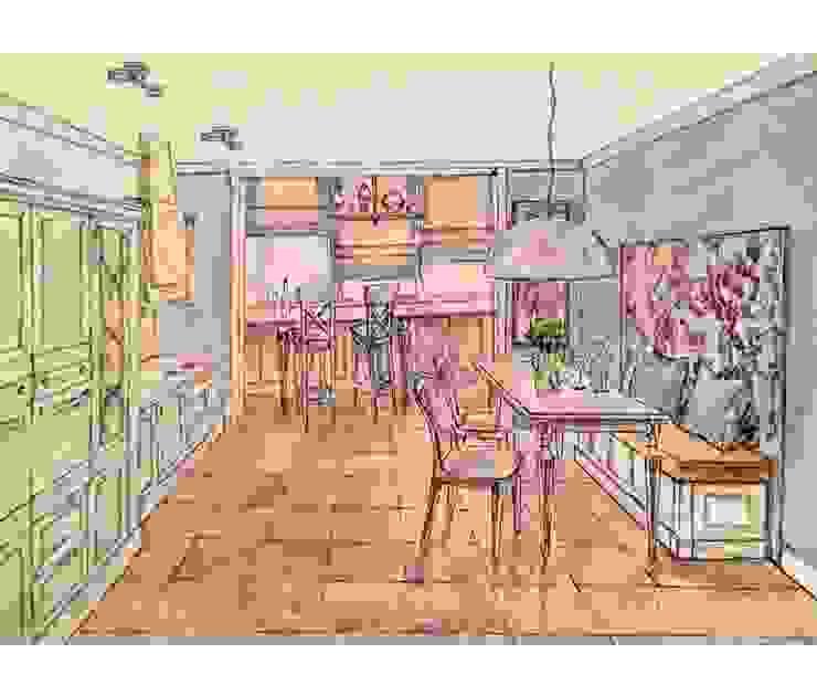 ЖК Альбатрос Кухня в классическом стиле от Home Emotions Классический
