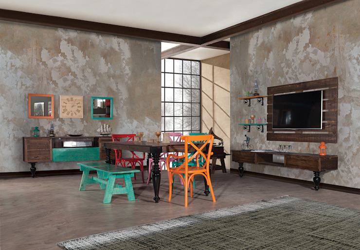 TORİNO Villa Style Kırsal/Country Ahşap Ahşap rengi