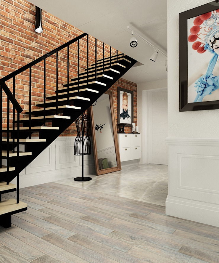Eclectic style corridor, hallway & stairs by The Аrt of interior from Olga Kalinina Eclectic