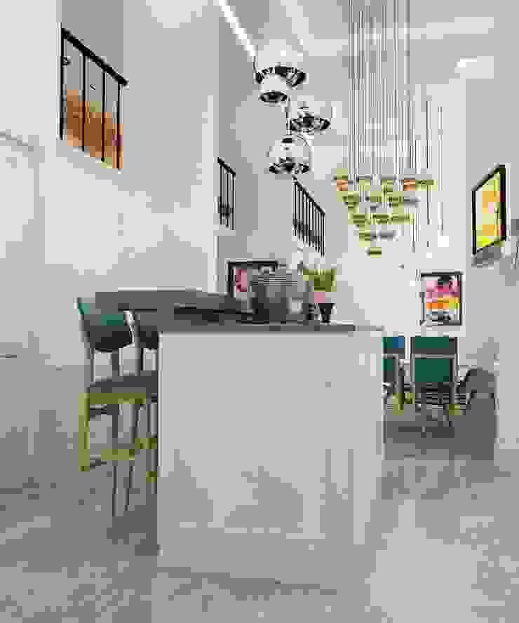 Cocinas de estilo ecléctico de The Аrt of interior from Olga Kalinina Ecléctico
