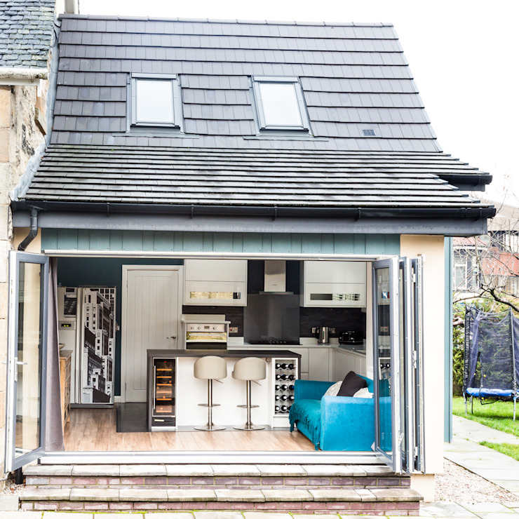 The Blue Extension Sha McAuley Photography Modern kitchen