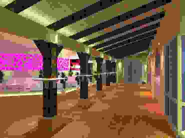 BS Ingeniería Modern balcony, veranda & terrace Wood Beige