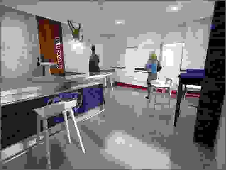 BS Ingeniería Modern dining room Wood Blue