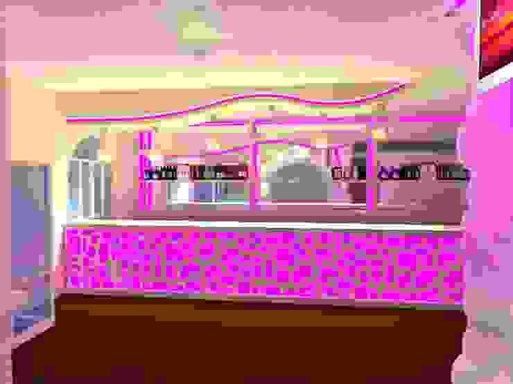 BS Ingeniería Modern living room Plywood Pink