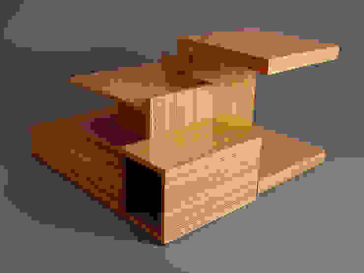 DESIGNERO – X Box Orta Sehpa: modern tarz , Modern Ahşap Ahşap rengi