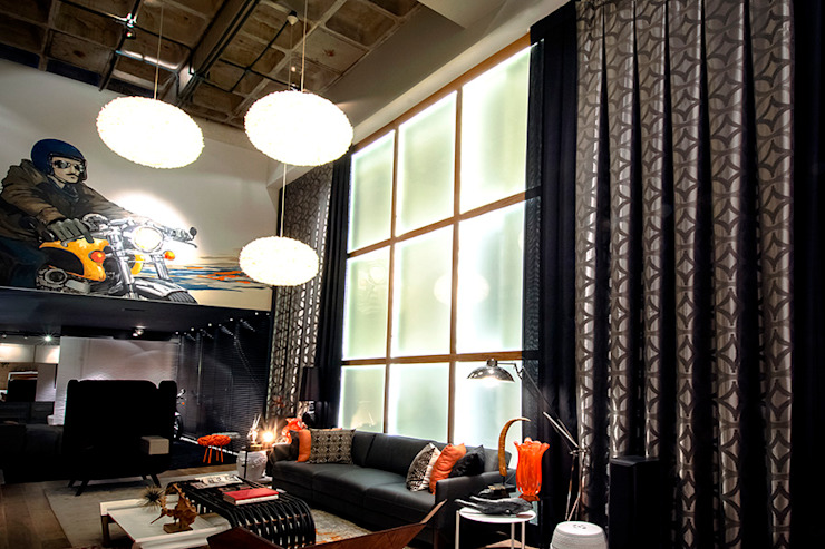 Triade Loft – Ambiente CASA COR SC 2015 Salas de estar modernas por Spengler Decor Moderno
