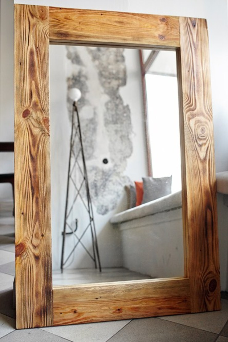 Lustro od Rekoforma Skandynawski Drewno O efekcie drewna
