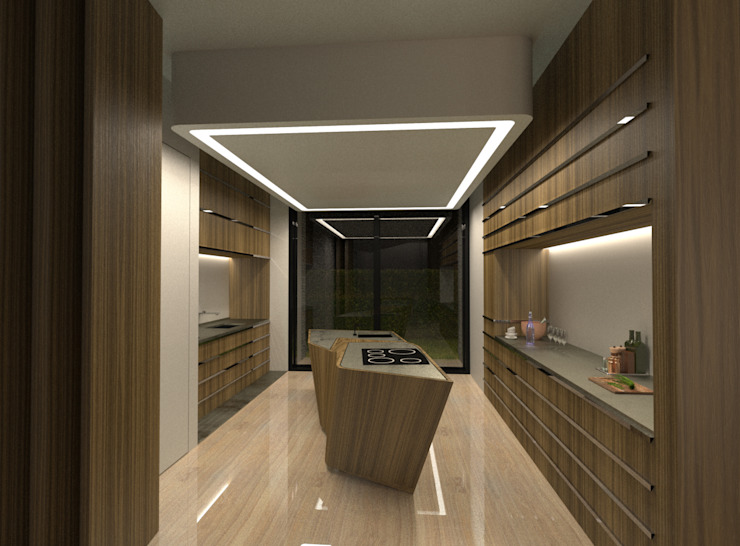 Modern kitchen by Office of Feeling Architecture, Lda Modern