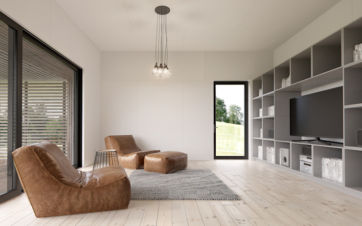 Salon scandinave par INT2architecture Scandinave MDF