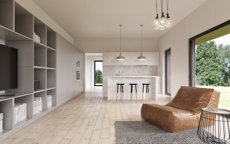 INT2architecture Living room MDF White