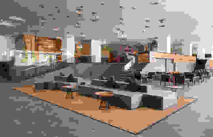 Lobby de diesco Moderno Compuestos de madera y plástico