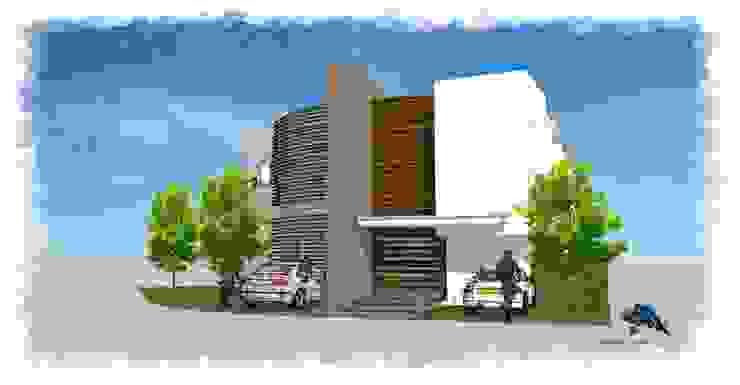 Acceso Principal de villarreal arquitectos y urbanistas asociados sc Moderno