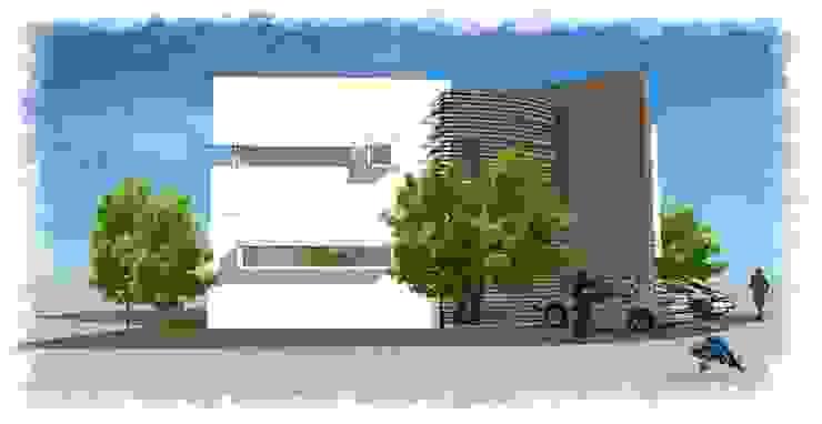 Perspectiva lateral de villarreal arquitectos y urbanistas asociados sc Moderno