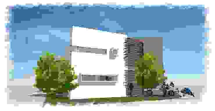 Area de estacionamiento de villarreal arquitectos y urbanistas asociados sc Moderno
