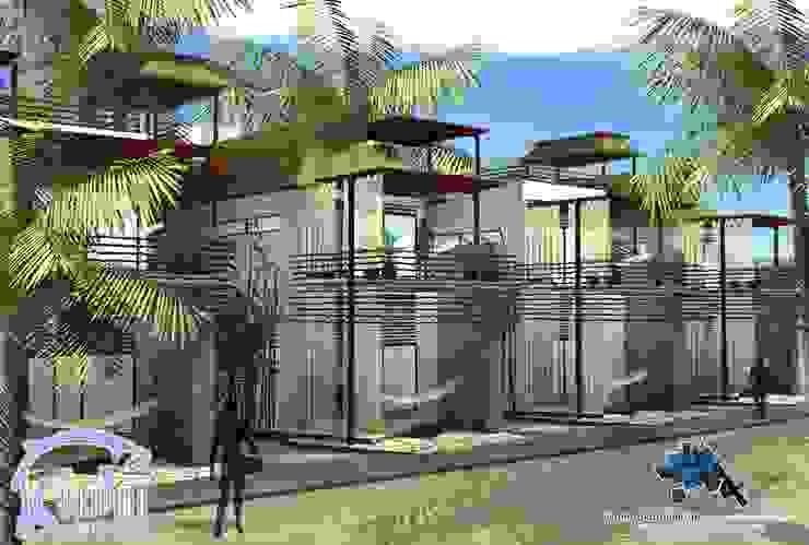 AREA DESCANSO:  de estilo tropical por villarreal arquitectos y urbanistas asociados sc, Tropical