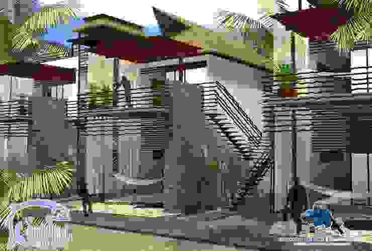 TERRAZA DE DESCANSO:  de estilo tropical por villarreal arquitectos y urbanistas asociados sc, Tropical