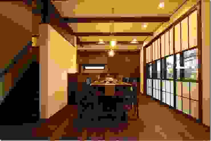 藤の木の家 和風デザインの ダイニング の 坂東建築設計室 和風