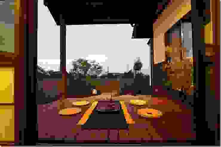 藤の木の家 和風デザインの テラス の 坂東建築設計室 和風