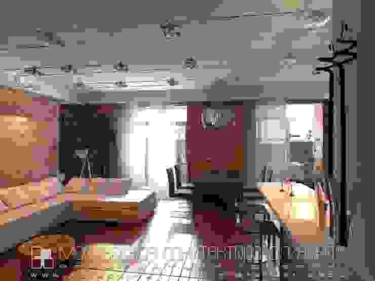 Гостиная в стиле лофт Гостиная в стиле лофт от Мастерская архитектора Аликова Лофт Кирпичи