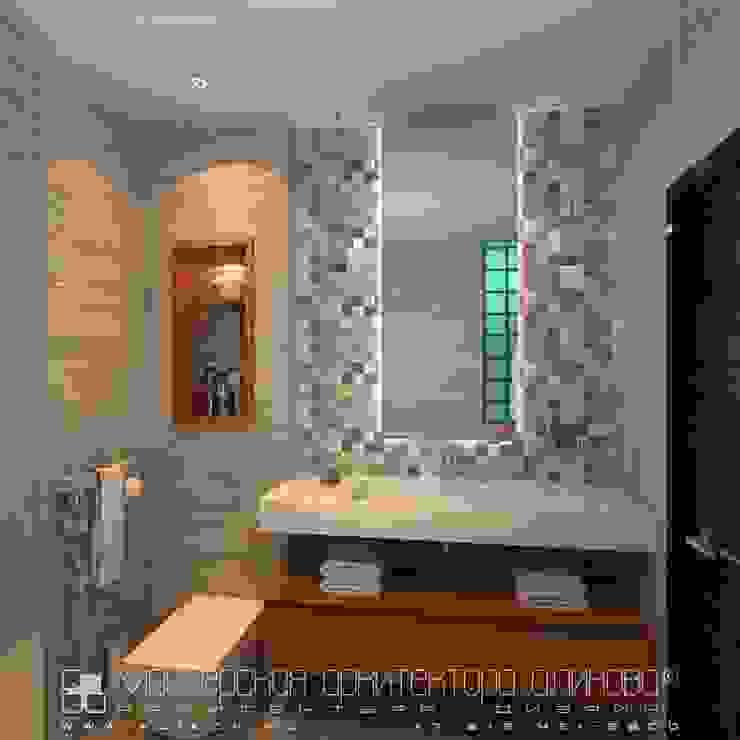 Интерьер квартиры в стиле лофт во Владикавказе Ванная в стиле лофт от Мастерская архитектора Аликова Лофт Керамика