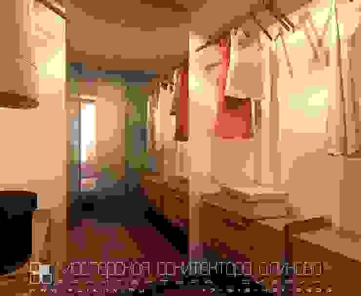 Интерьер квартиры в стиле лофт во Владикавказе Гардеробная в стиле лофт от Мастерская архитектора Аликова Лофт Кирпичи