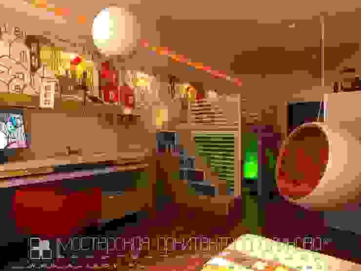 Интерьер квартиры в стиле лофт во Владикавказе Детская комната в стиле лофт от Мастерская архитектора Аликова Лофт Дерево Эффект древесины