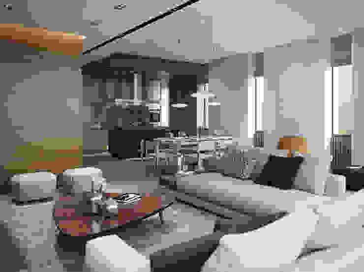 Bezmenova Minimalist living room