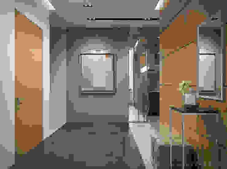 Квартира холостяка Коридор, прихожая и лестница в стиле минимализм от Bezmenova Минимализм