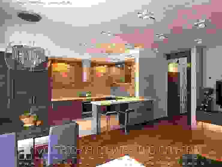 Интерьер квартиры в стиле лофт во Владикавказе Кухня в стиле лофт от Мастерская архитектора Аликова Лофт Кирпичи