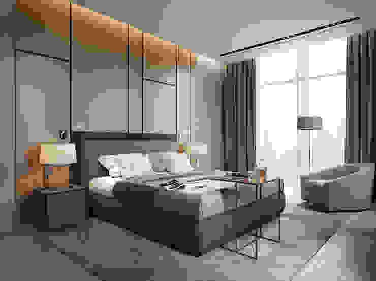 Квартира холостяка Спальня в стиле минимализм от Bezmenova Минимализм