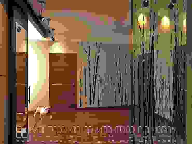 Интерьер квартиры в стиле лофт во Владикавказе Коридор, прихожая и лестница в стиле лофт от Мастерская архитектора Аликова Лофт Кирпичи