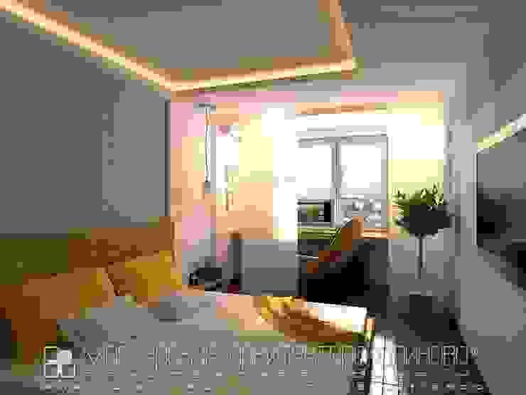 Интерьер квартиры в стиле лофт во Владикавказе Спальня в стиле лофт от Мастерская архитектора Аликова Лофт Кирпичи