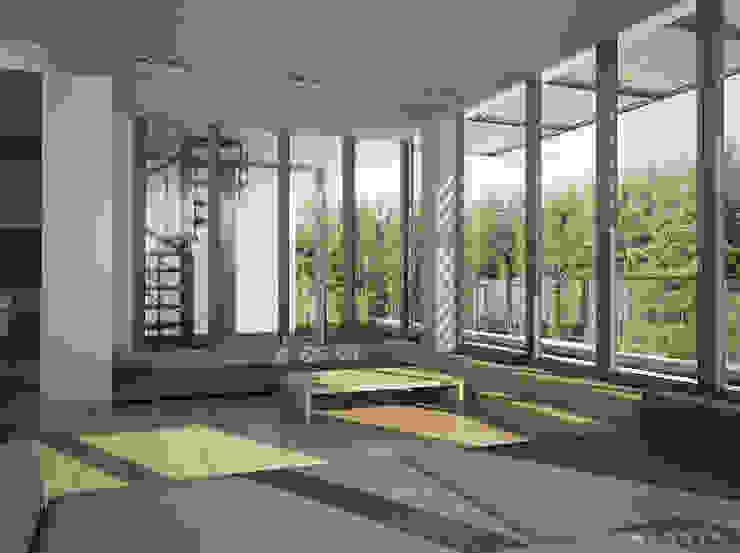Квартира в Юрмале Гостиная в стиле минимализм от Bezmenova Минимализм