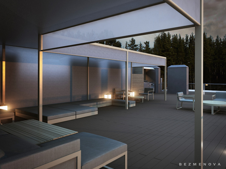 Квартира в Юрмале Балкон и терраса в стиле минимализм от Bezmenova Минимализм