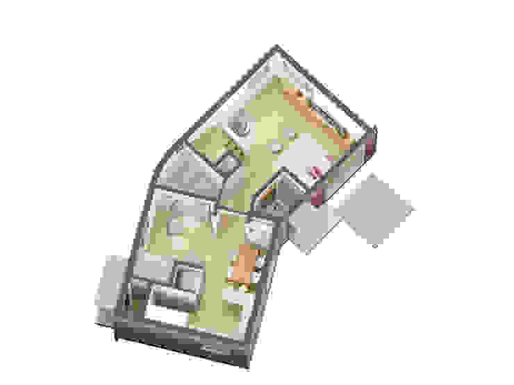 1층평면: IDÉEAA _ 이데아키텍츠의 미니멀리스트 ,미니멀