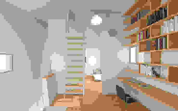 2층의 모습: IDÉEAA _ 이데아키텍츠의  서재 & 사무실,미니멀