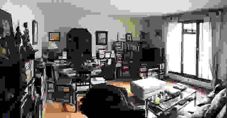 Salon avant- Appartement Courbevoie par Nuance d'intérieur