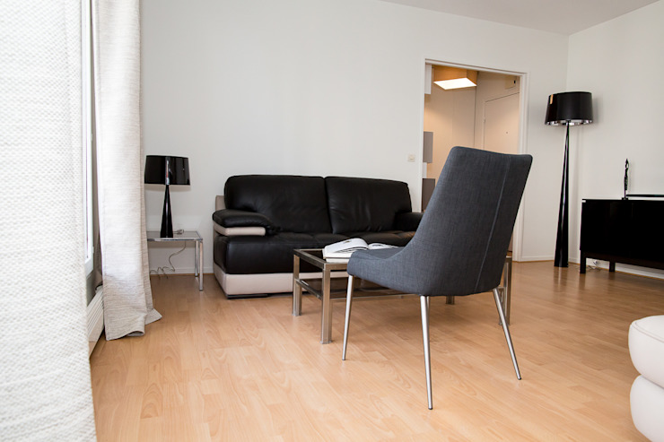Salon après- Appartement Courbevoie par Nuance d'intérieur