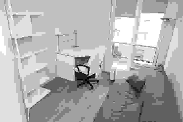 Bureau après - Appartement Courbevoie par Nuance d'intérieur