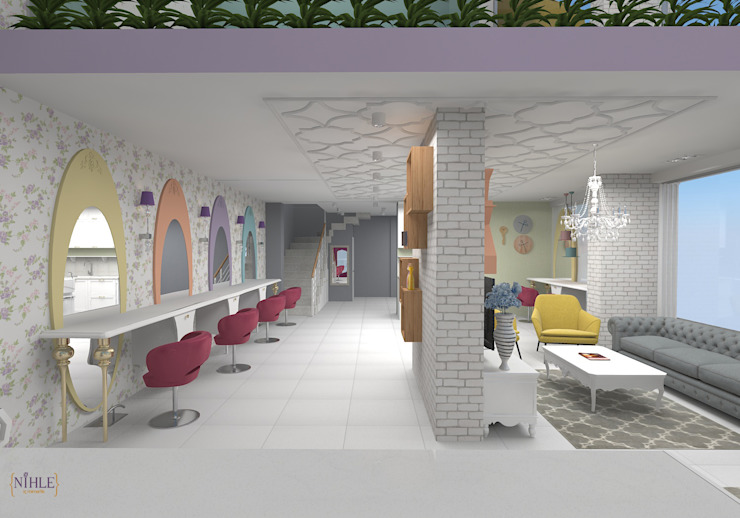 Country style commercial spaces by nihle iç mimarlık Country
