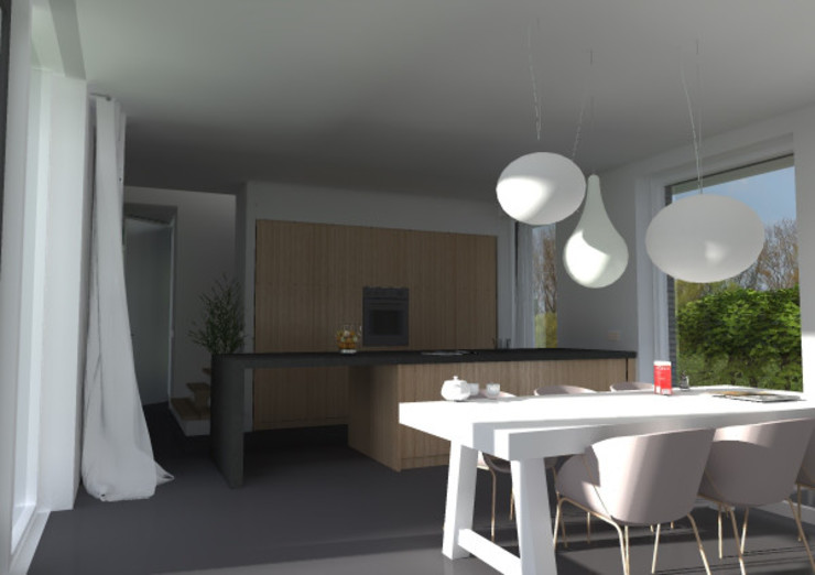 woning lent Moderne keukens van loko architecten Modern